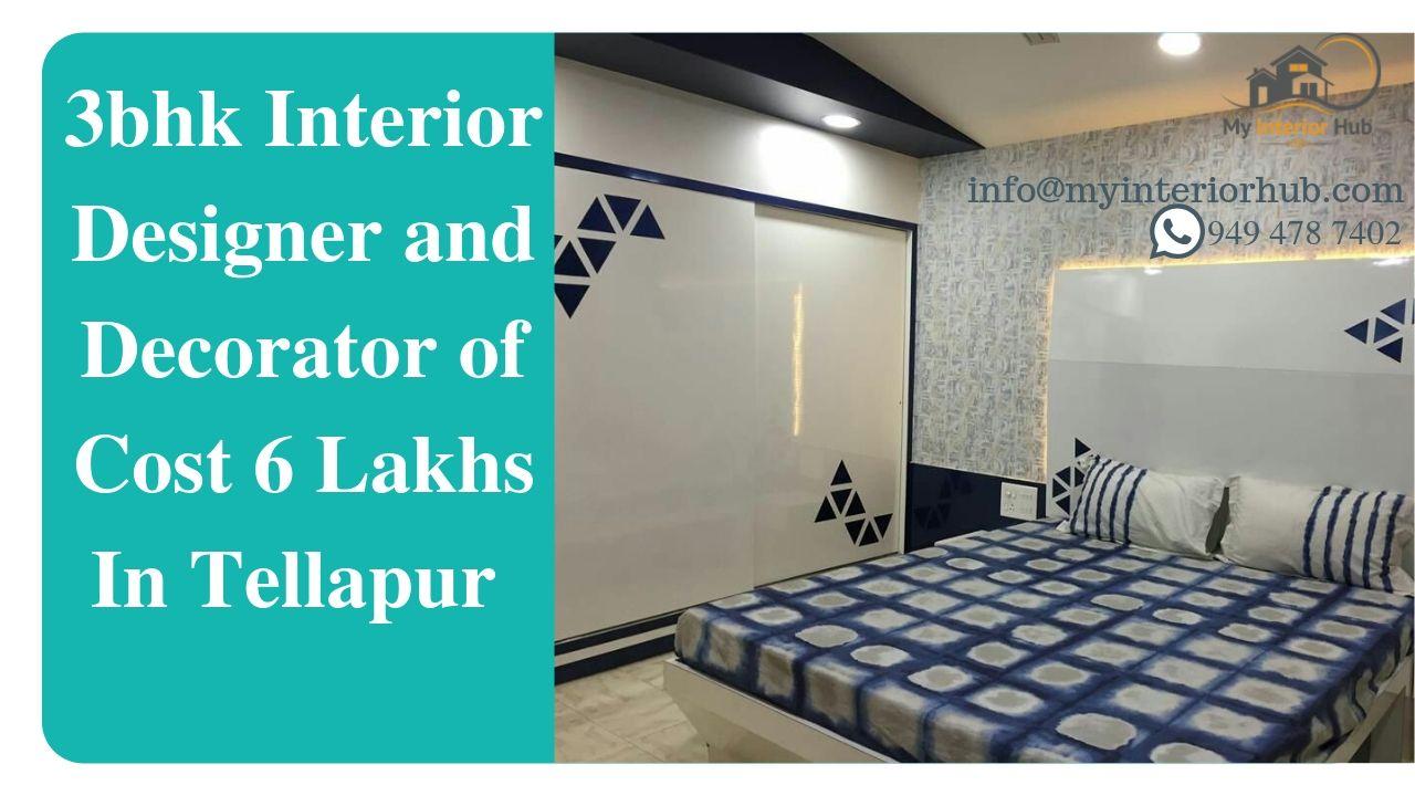 3BHK INTERIOR DESIGNER AND DECORATOR OF COST 6 LAKHS IN TELLAPUR