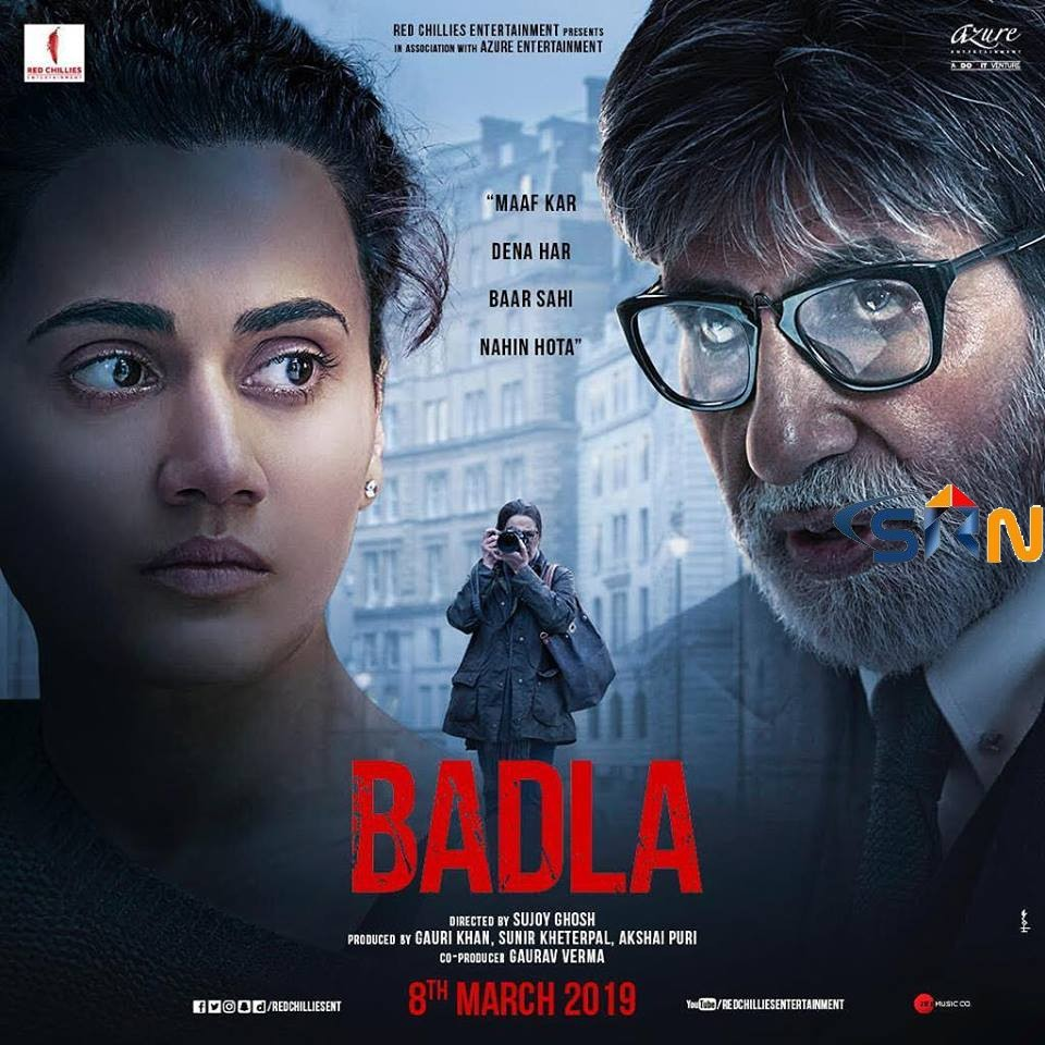 BADLA TRAILER REVIEW STARRING AMITABH BACHAN TAPSEE PANNU