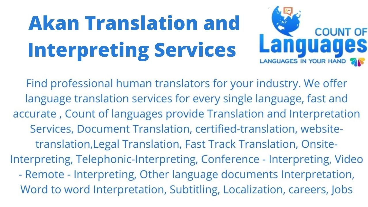 Translation and Interpreting Services in Akan