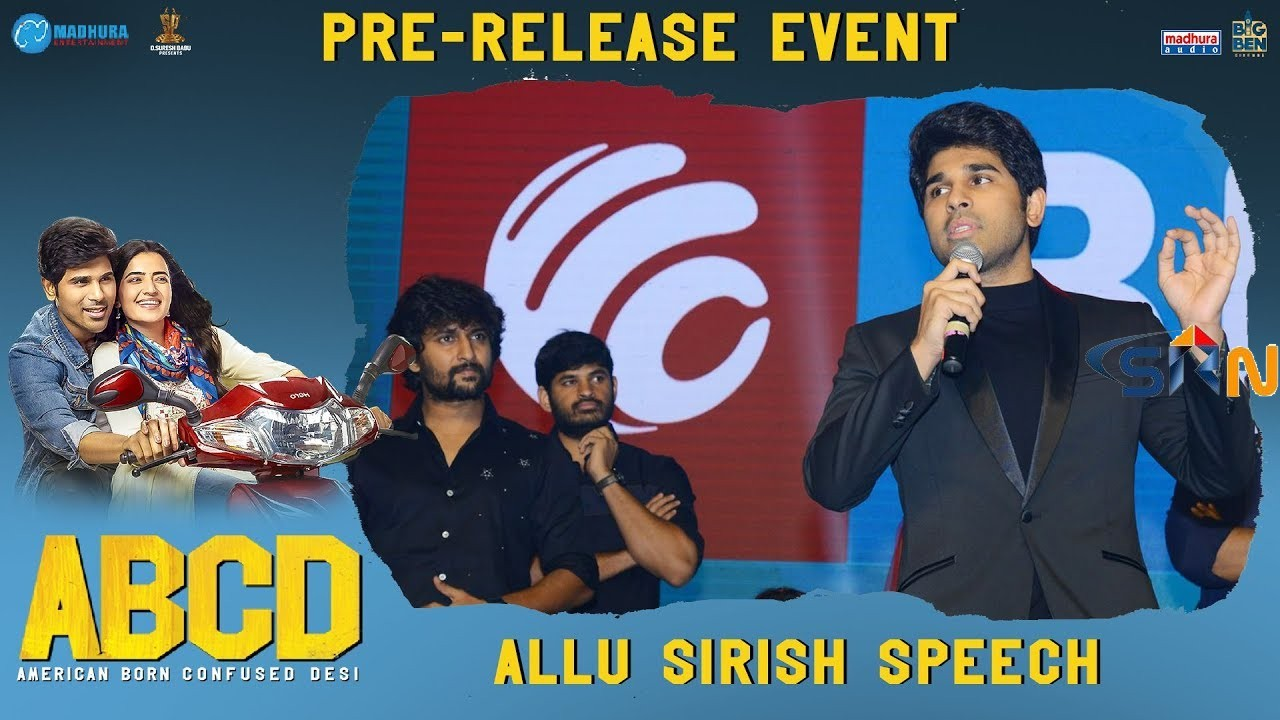 Allu Sirish Extra Ordinary Speech || ABCD Movie Pre Release Event