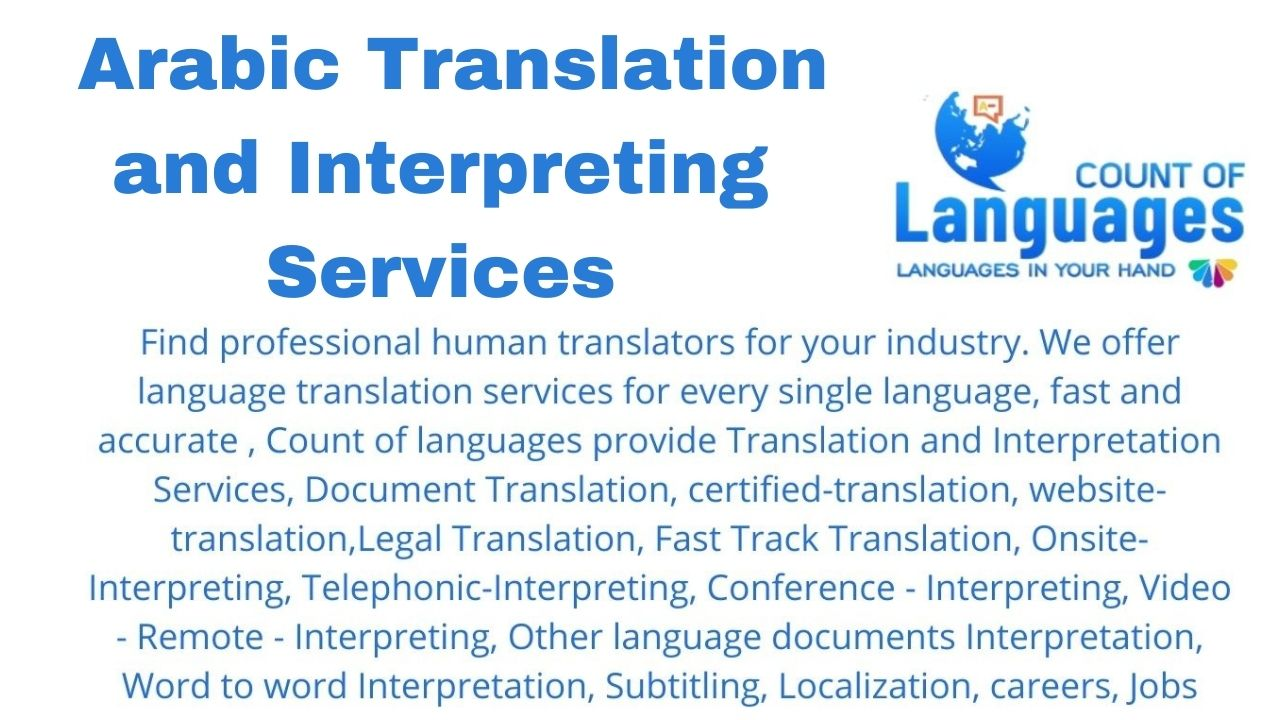 Translation and Interpreting Services in Arabic
