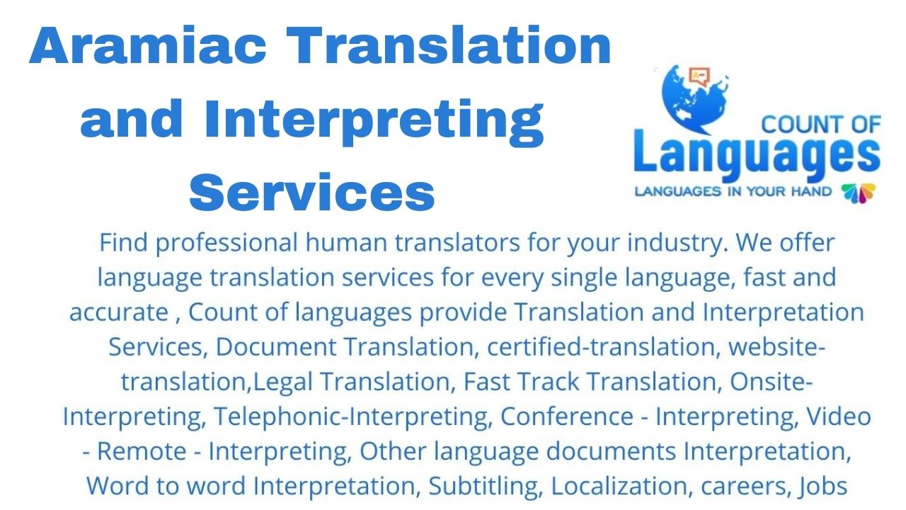 Translation and Interpreting Services in Aramiac