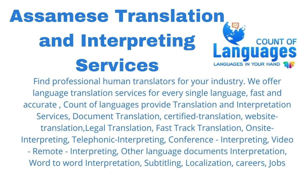 Translation and Interpreting Services in Assamese