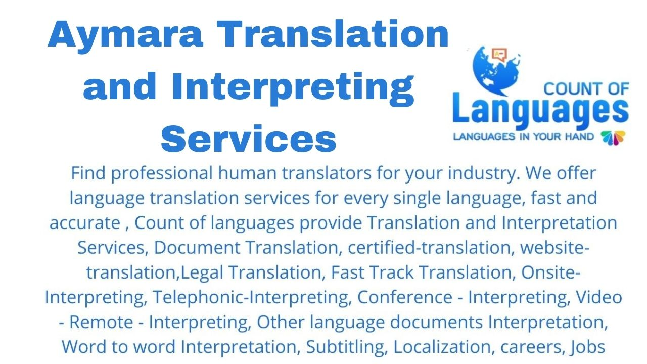 Translation and Interpreting Services in Aymara