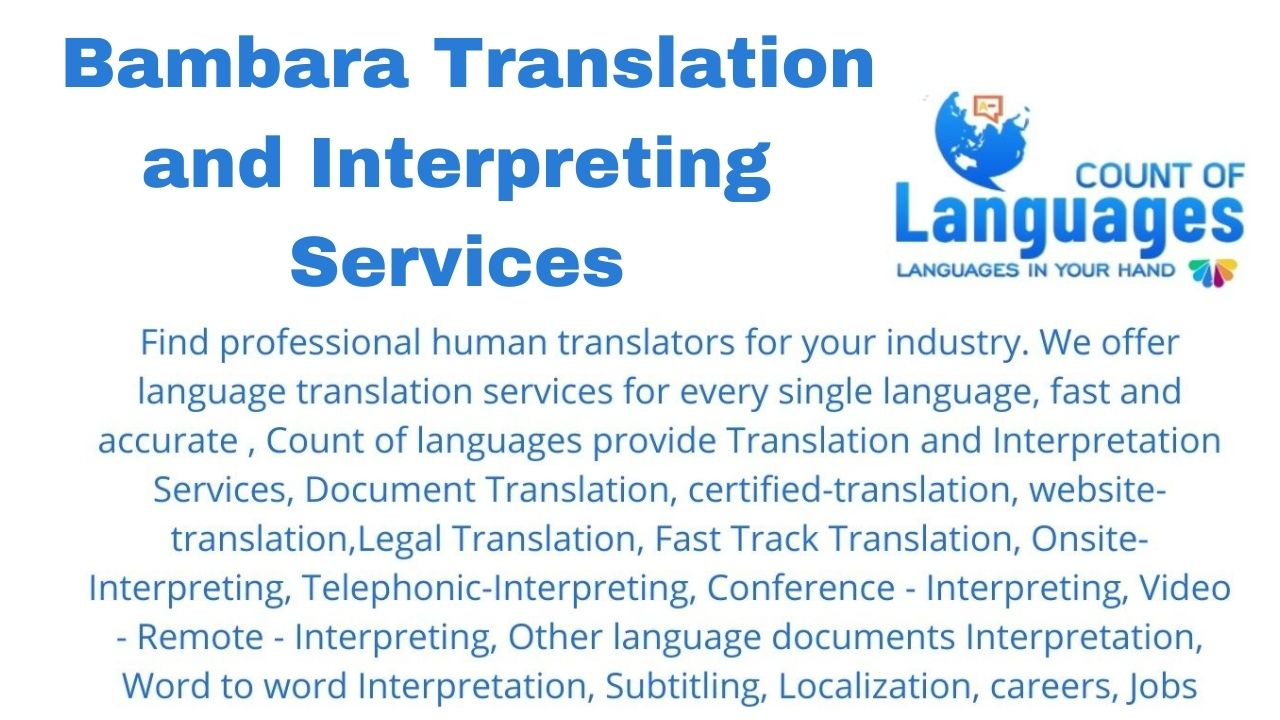 Translation and Interpreting Services in Bambara