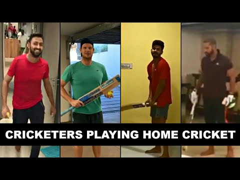 Cricketers Playing Home Cricket ft