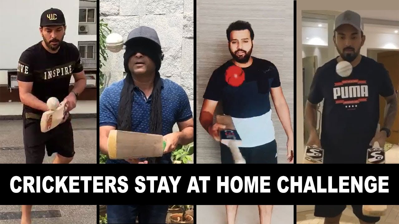 Cricketers Stay At Home Challenge ft