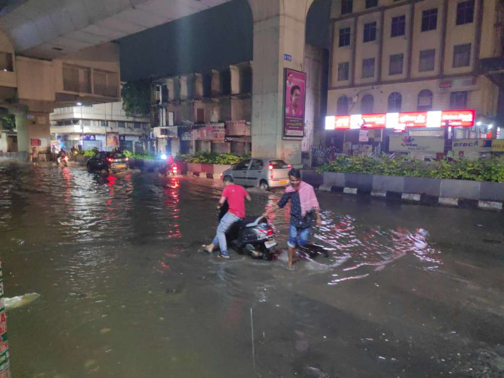 GHMC Alert Over heavy Rain Leaves Hyderabad Roads Flooded