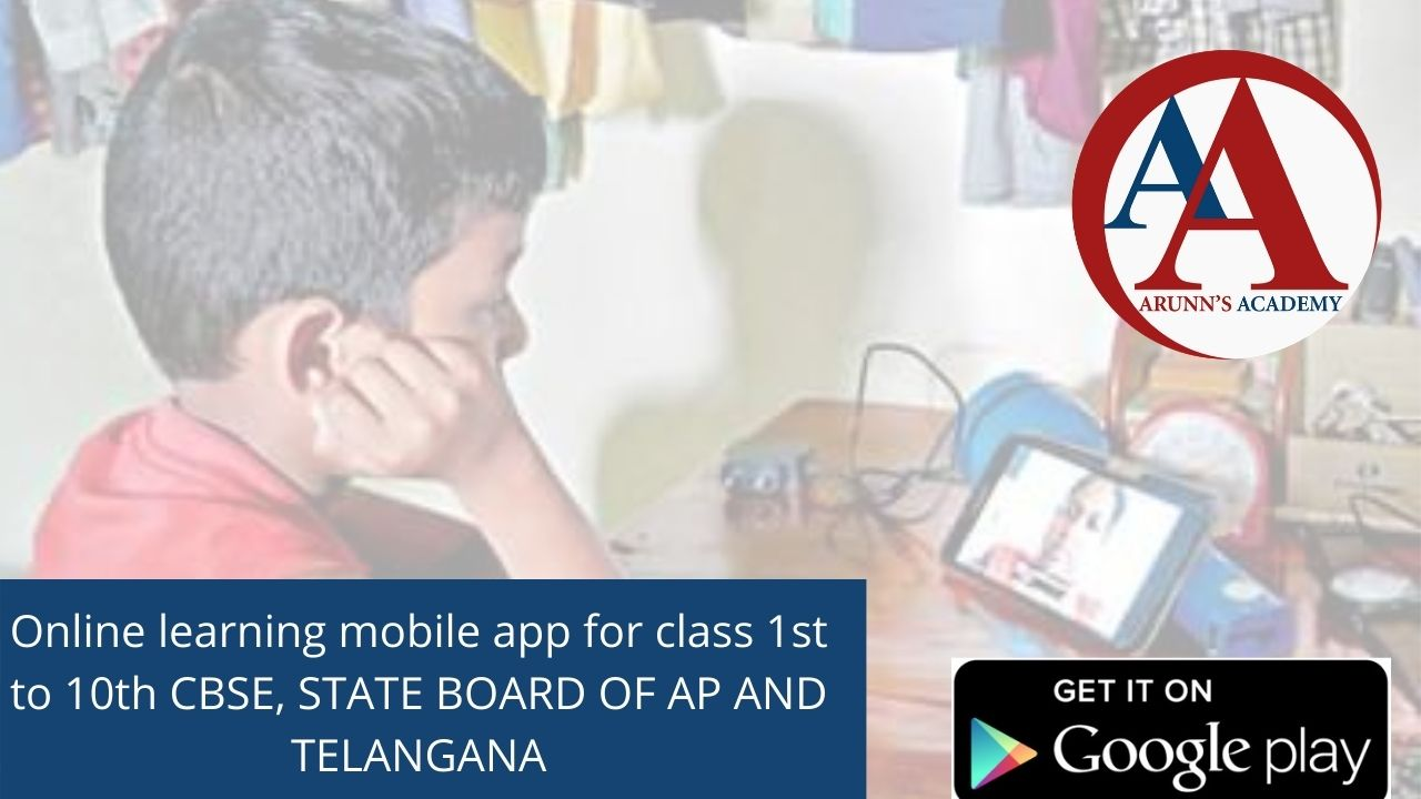 Online learning mobile app for class 1st to 10th