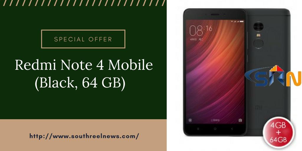 Redmi Note 4 Mobile (Black, 64 GB)