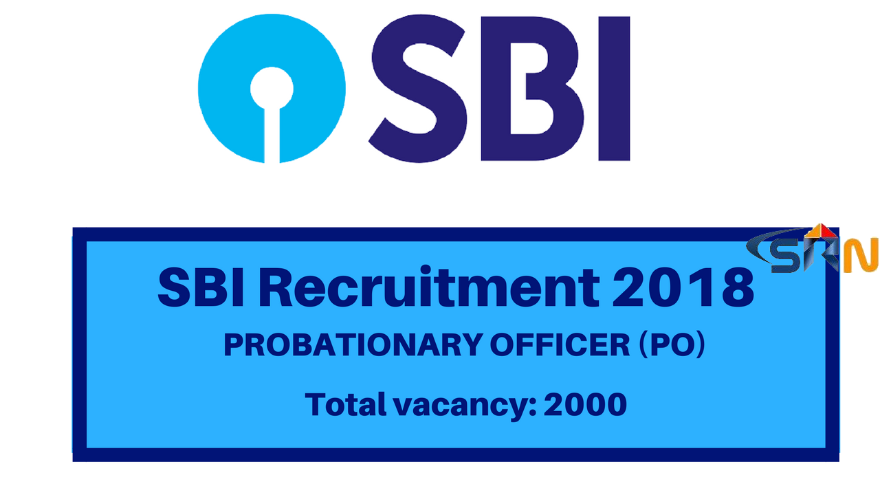 SBI Probationary Officer (PO) Online Form 2018