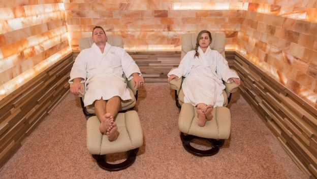 Salt therapy to check for respiratory problems
