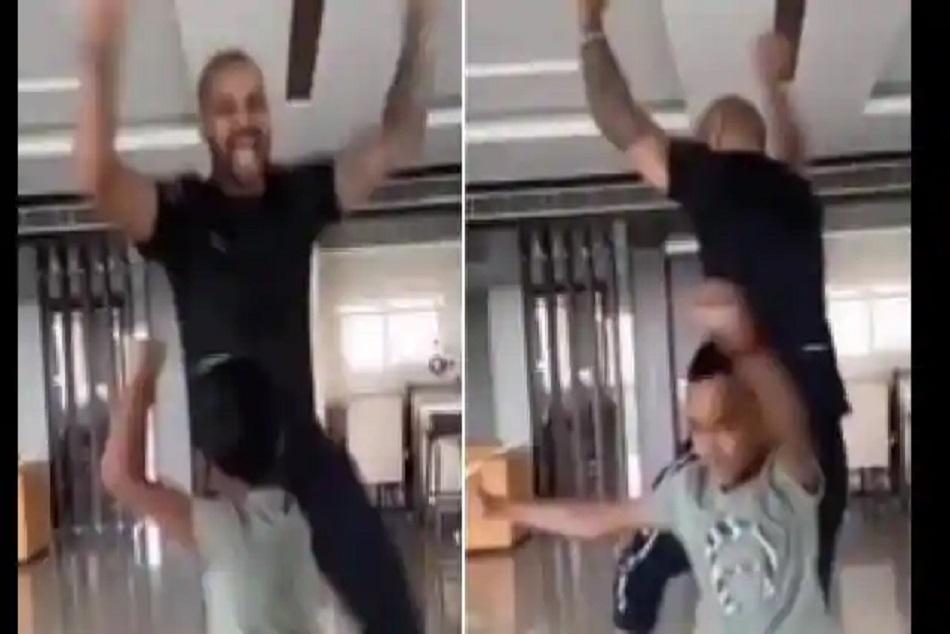 Shikhar Dhawan Bhangra dance with son Zoravar during lockdown