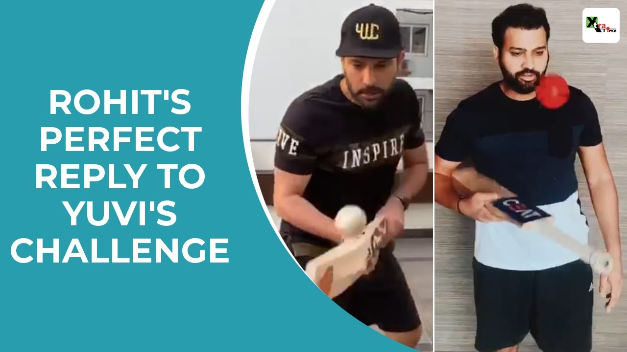 This is how Rohit Sharma replied to Yuvraj Singhs challenge