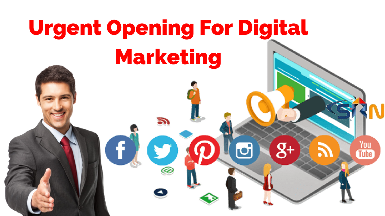 Urgent Opening For Digital Marketing jobs