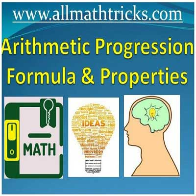 Arithmetic Progression Formulas, Problems with Answers for Competitive Exams