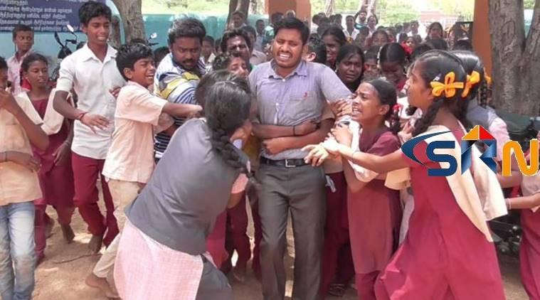 Students Protest Teacher Transfer