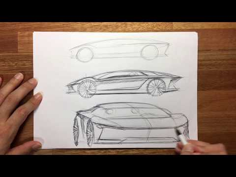 Steps involved in designing a concept car