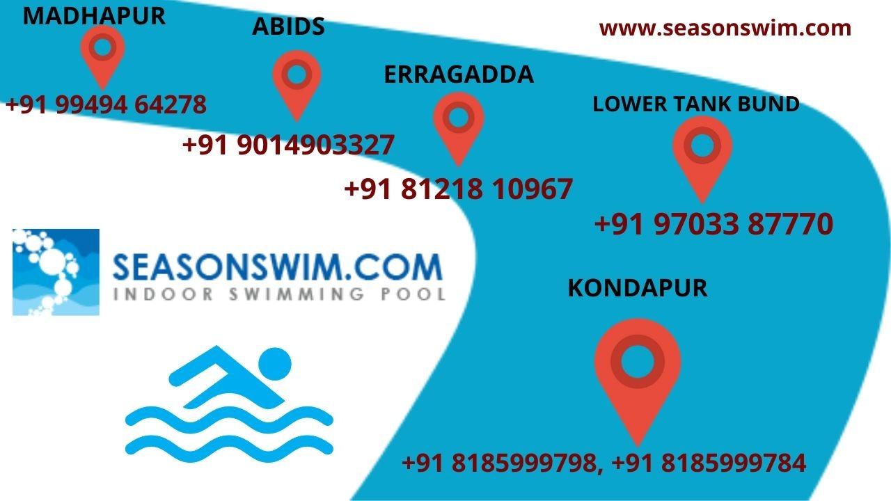 indoor swimming pool in Kondapur madhapur abids erragadda lower tank bund hyderabad